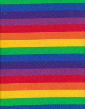 $9/yard Rainbow Stripes on Cotton Lycra Jersey Fabric by BWDFabrics