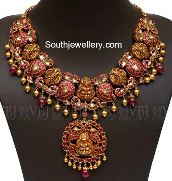 Mango Peacock Antique Ruby Necklace photo