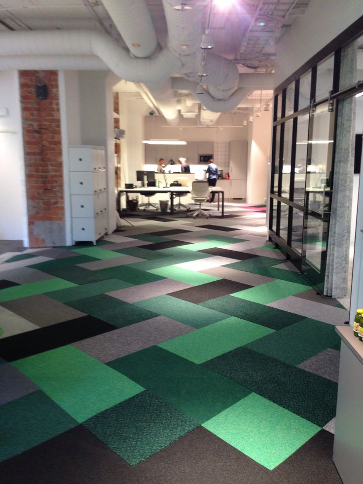 Mixed green and neutral carpeting wwwCorporateCarecom