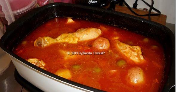 ¿Gusta Usted? : Estofado de Pollo cocinado en la Olla de Lento Cocimiento. Slow Cooker. Crock Pot. Queda delicioso, prueba esta receta.