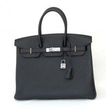 Authentic Hermes Birkin 35 Black P H W Togo Ultimate Classic