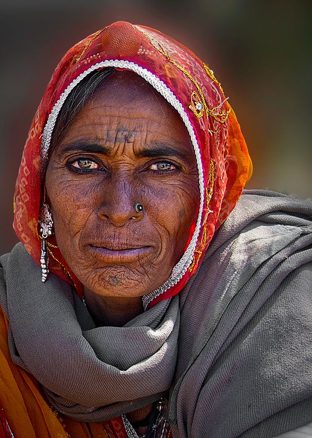 India ~ emotion fills her face