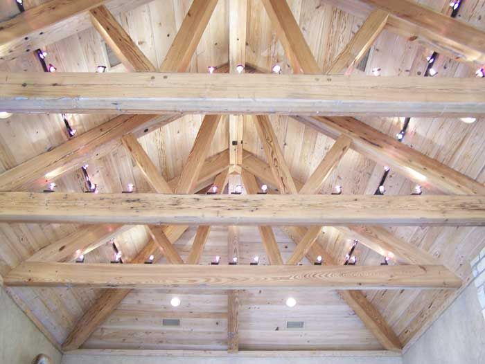 \house with exposed trusses | ... Processing - Beams, Pergolas, Trusses, Lumber, Moulding, Machinery