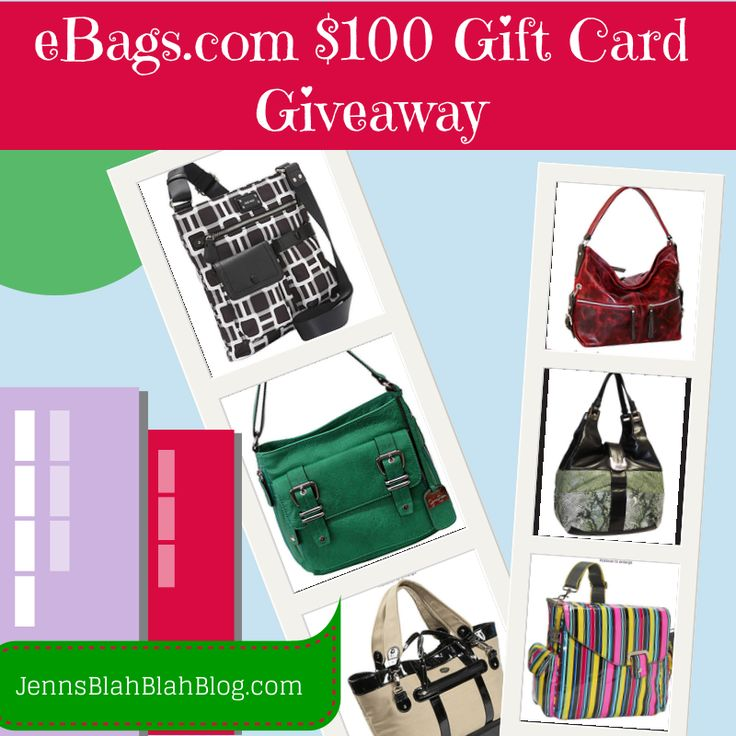 Giveaway: Enter To Win $100 eBags.com Gift Card
