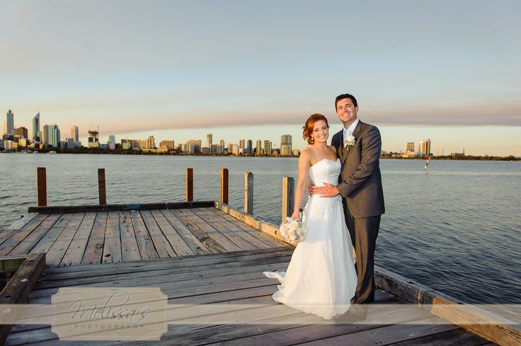 Such gorgeous light for their wedding photos on Coode St jetty