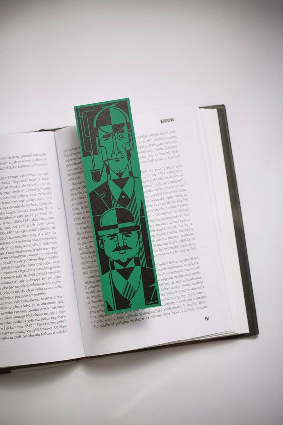 Sherlock Holmes & dr. Watson by Bookmarklovers on Etsy