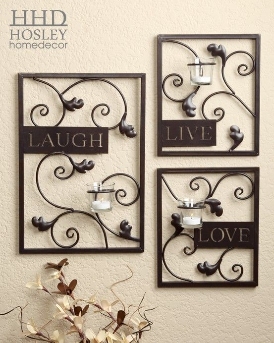 Live, Laugh, Love Candleholder Wall Sconces