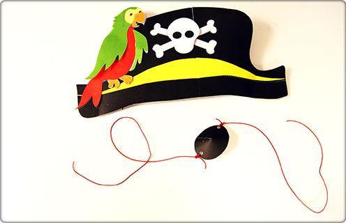 Met het volgende Pritt project krijg jij de kans om je eigen piratenhoed met papagaai te maken.