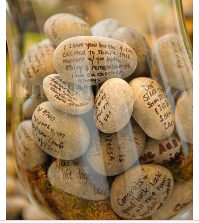 "Cute wedding guest ""book"" idea - these are fun to do at the reception"