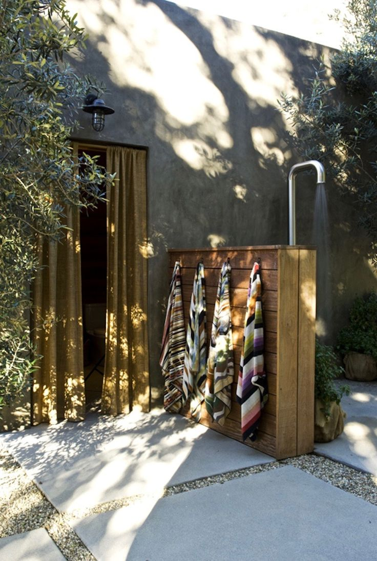Hardscaping 101 Design Guide For Fences Height Styles: 33 Best Outdoor Shower Images On Pinterest