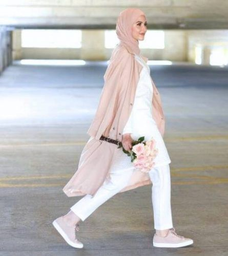 blush pink casual hijab