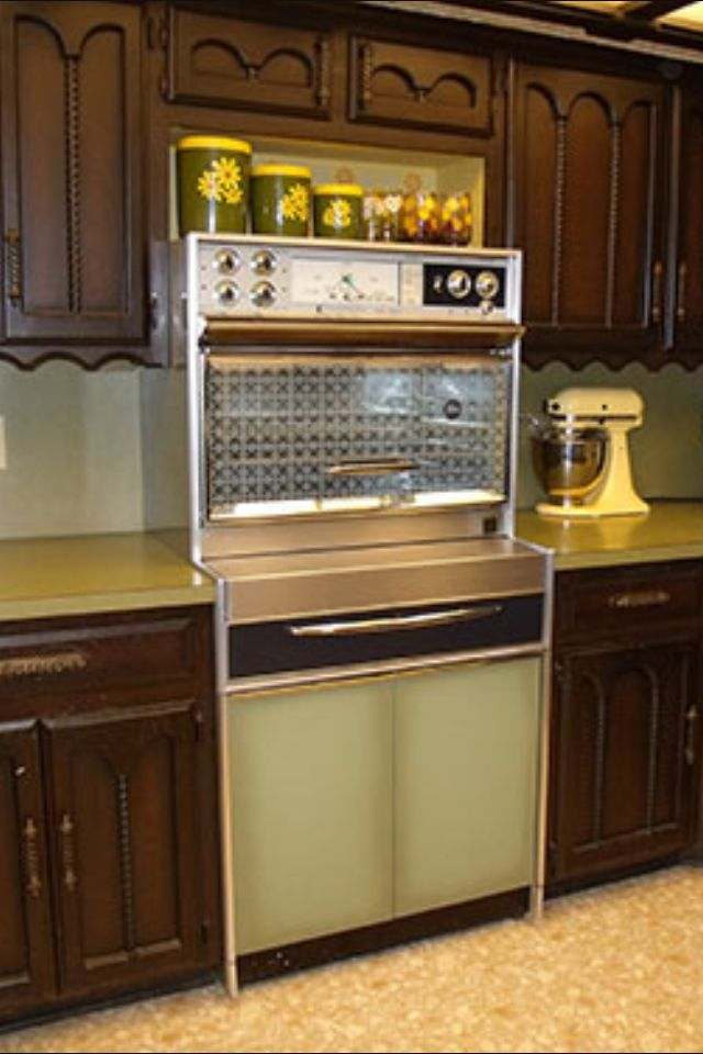 We had one of these stoves with the retractable burners for Avocado kitchen cabinets