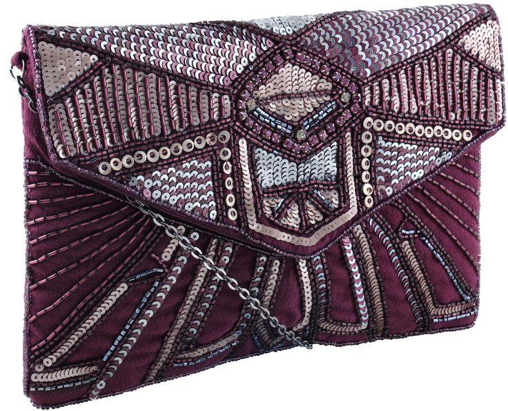 @bijoubrigitte  #Purple #Clutch perfecto para las noches navideñas #CCElSaler