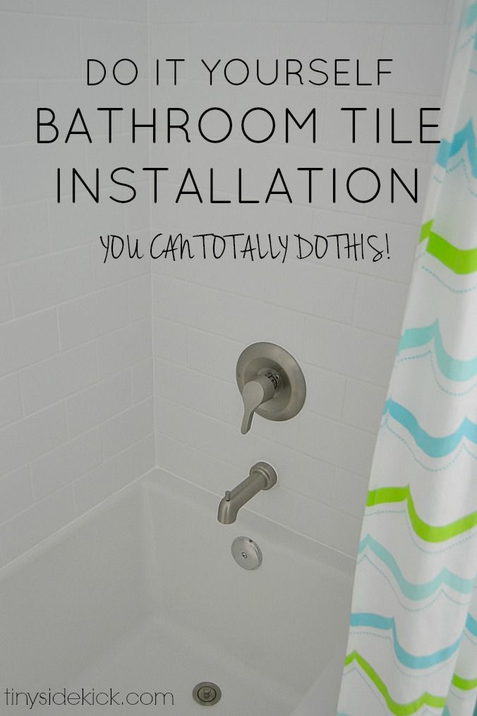 do it yourself bathroom tile installation
