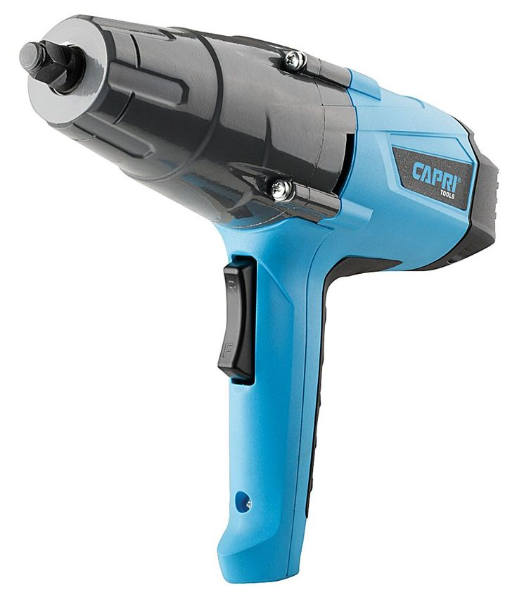 "Capri Tools 32200 8.5 Amp 260 ft. lb Powerful Impact Wrench with 1/2"" Drive. ELECTRIC: Simply plug in to loosen and tighten nuts and bolts quickly, no need for an air compressor. GUARANTEED POWER: 260 ft-lbs max torque is delivered through the Planetary Gear System for max power with minimal weight. ERGONOMICS: The comfortable grip combined with a dual bearing armature system leads to less fatigue over time. 1/2"" Hog Ring Anvil: Built stronger than detent pin types, keeping sockets in…"