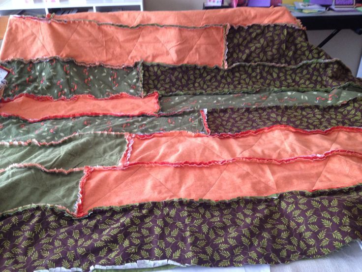 Fox strip ragtime quilt