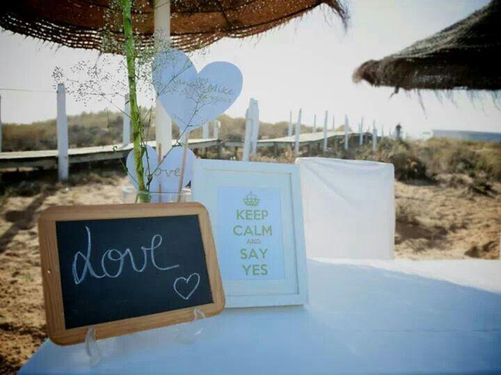 Ideia decoração casamento praia #beach #wedding #simple things