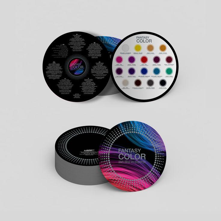 Diseño de carta de color para tinte semi-permanente Fantasy Color Exitenn.