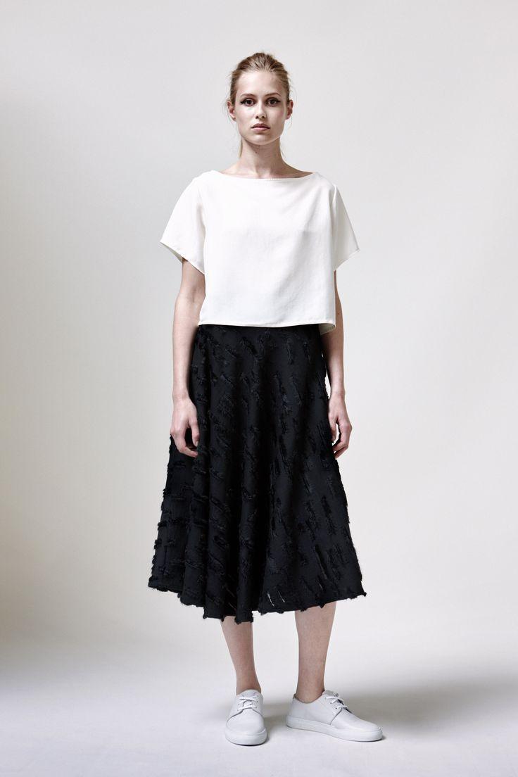 Panda Top, Asalt Skirt and Leather Sneakers | Samuji SS16 Seasonal Collection