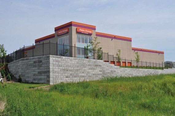 Unilock - Public Storage with DuraHold Retaining Wall in Ontario