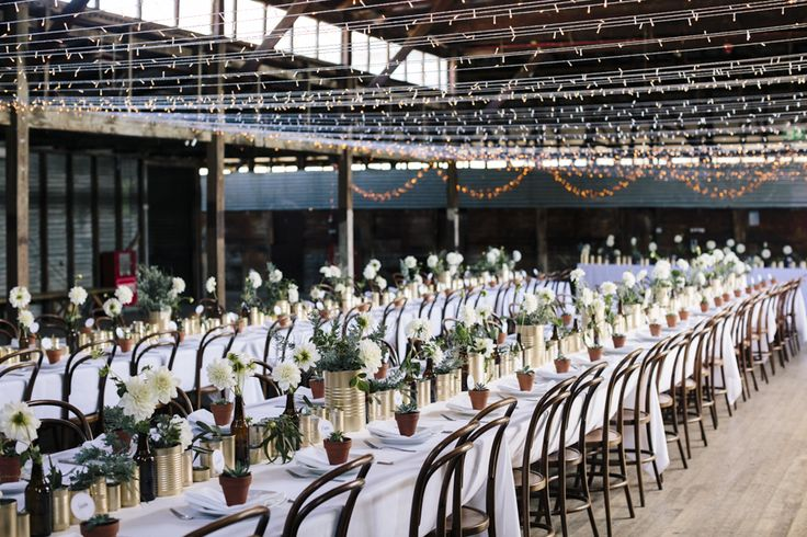 yarralumla-woolshed-wedding-reception-venue-canberra-country-bentwood-chairs-flowers-styling-fairy-lights
