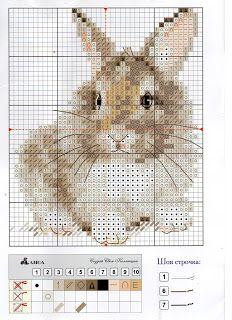 """Вышивалка 刺繍: Схемы вышивки """"Алиса"""" 0-170 """"Крольчонок"""""""