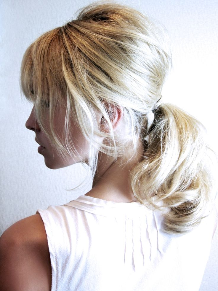 Loose low ponytail for a natural, sexy & smooth look. Add layers and curls for a sophisticated touch.