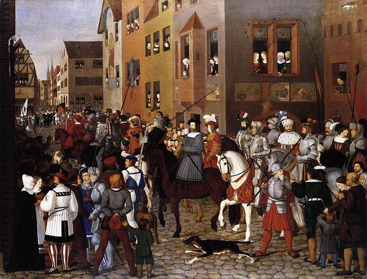 Franz Pforr - The Entry of Emperor Rudolf of Habsburg into Basle