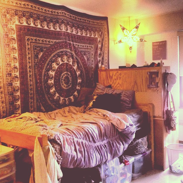 I like the bed up to the desk, makes it look like a little nook
