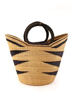 This basket is an absolute dream! Hand woven in the rural Bolgatanga region of…