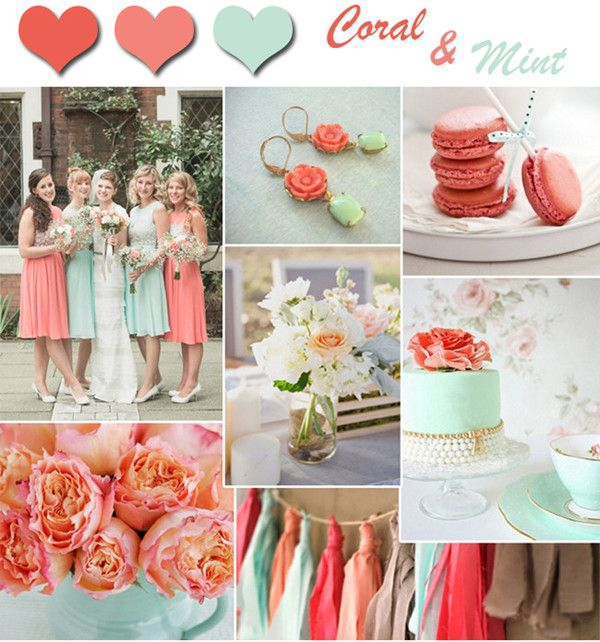 2014 Wedding Color Trends-Coral Wedding Ideas And