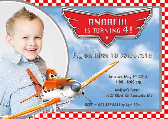 Disney Planes Birthday Party Invitation  by PrettyPaperPixels, $8.99