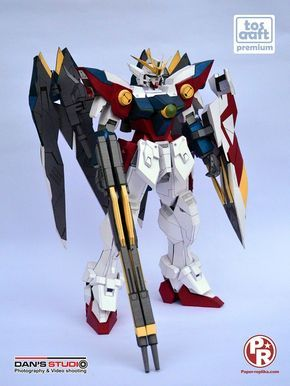 What we have here is Wing Zero Gundam paper craft with the scale of 1:60. It used to be a premium Gundam model by tos-craft but now he has release it to public. This Gundam model is really well made , it comes in color templates so you don't have to color it. The instruction are in pdo and pdf for every parts.