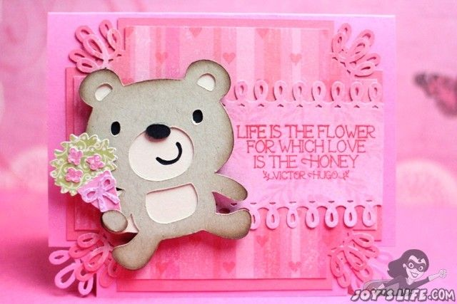 Create a Critter 2 Valentine with JoysLife stamps and Cricut