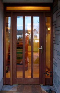Glass front doors google search doors pinterest for Exterior back doors with glass