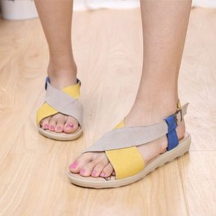 //: Fashion Shoes, Summer Shoes, Fish, Flat Sandals, Cross Flat, Feet, Leather Sandals, Sandals Flats, Cute Sandals