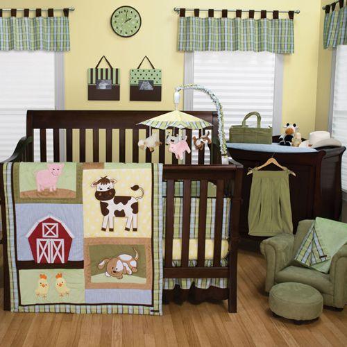 Trend Lab Baby Boy Animal Farm Theme Barn Crib Nursery Quilt Bedding Set