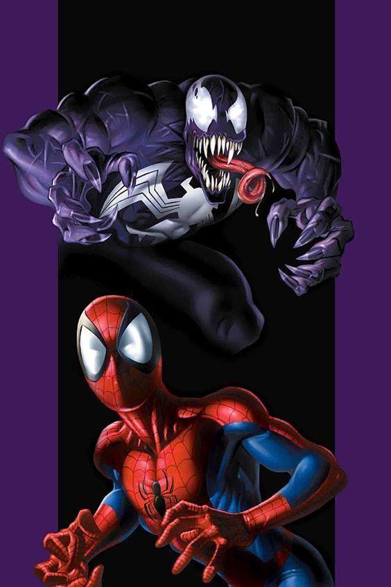 VENOM AND SPIDER-MAN BY MARK BAGLEY | Hombre araña comic ...
