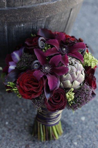 Dark Purple Wedding Flower Bouquets : Best purple eggplant weddings images on
