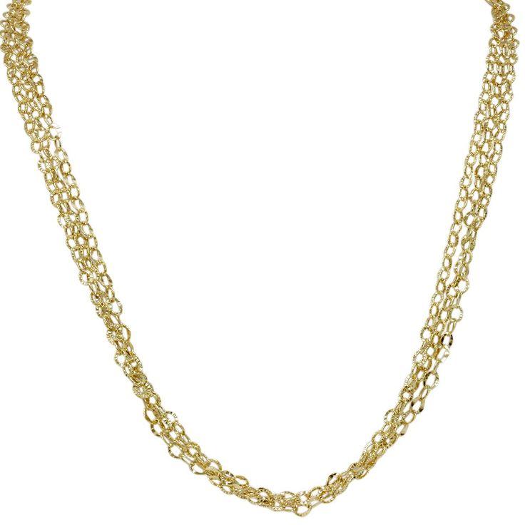 "Amazon.com: 18"" 14K Yellow Gold Chain Womens Triple Necklace 6.2 Grams: Jewelry"