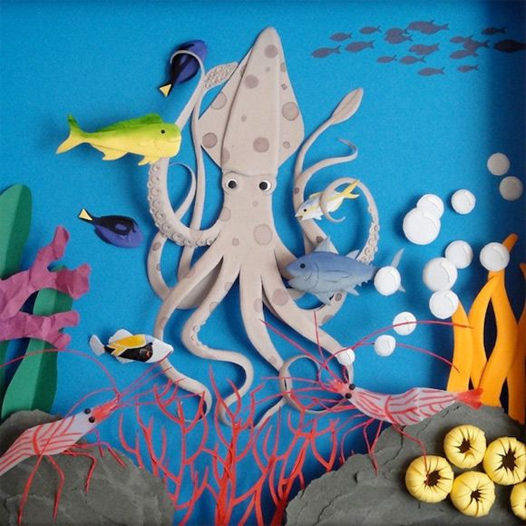 Painstakingly Crafted 3D Paper Art