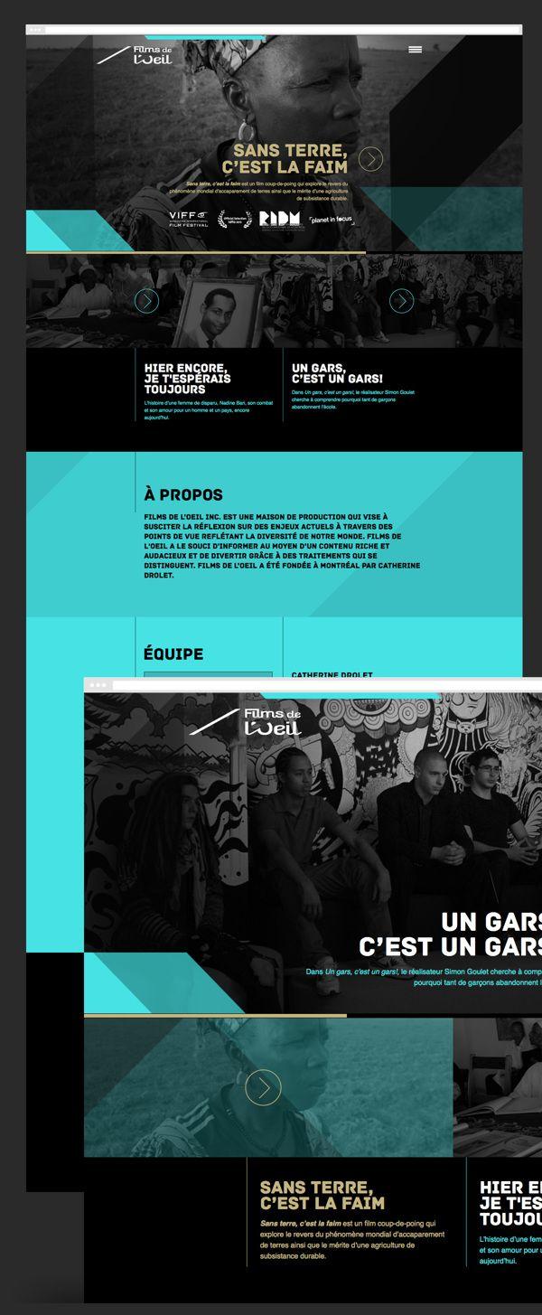 Responsive Web Design Films de l'Oeil by 8 Bis Agency , via Behance
