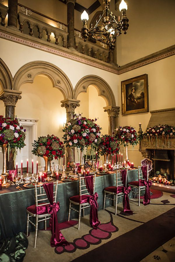 Rich Bold Wedding Colors of French Baroque
