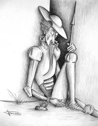 Don Quijote Iv Drawing