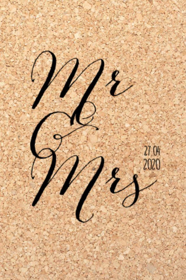 lovz.nl   Unieke enkele trouwkaart met kurk design en handlettering. Zelf maken