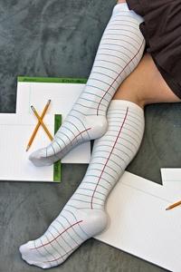 College-ruled socks