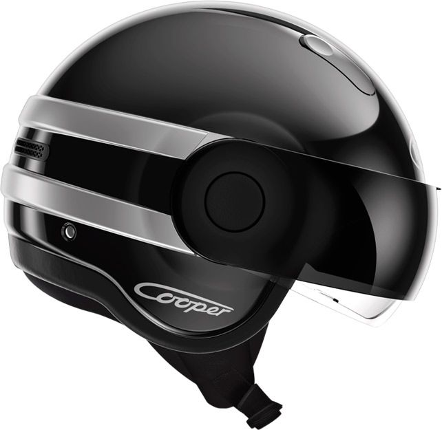 Le look futuriste du casque Roof Cooper rappelle les casques portés sur scène par les Daft Punk /// Roof Cooper helmet is inspired by the electronic music group Daft Punk !