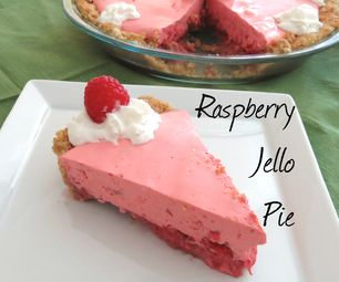Raspberry Jello Pie: No baking necessary!