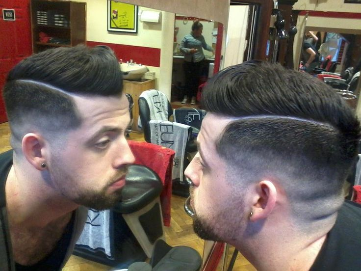 Vintage Barber Old School Barber Lowblend Combover Quiffed Back With Shaved  Parting Cut By Paul Mac