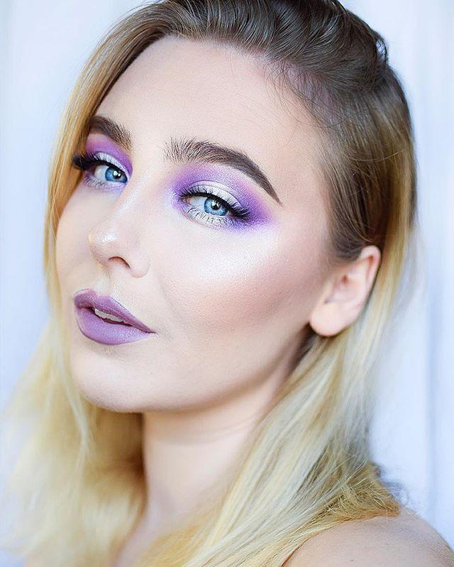 Frosty purple using Galaxy Chic Palette #BHcosmetics via @bysaranilsson